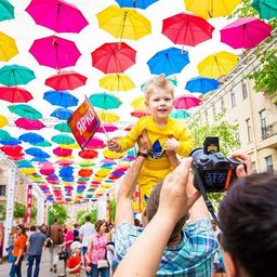 В Петербурге появится «Аллея парящих зонтиков»