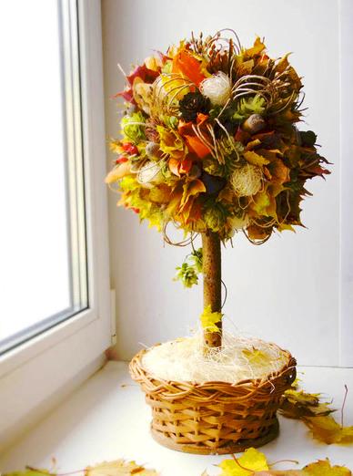 Осенний топиарий своими руками пошаговая