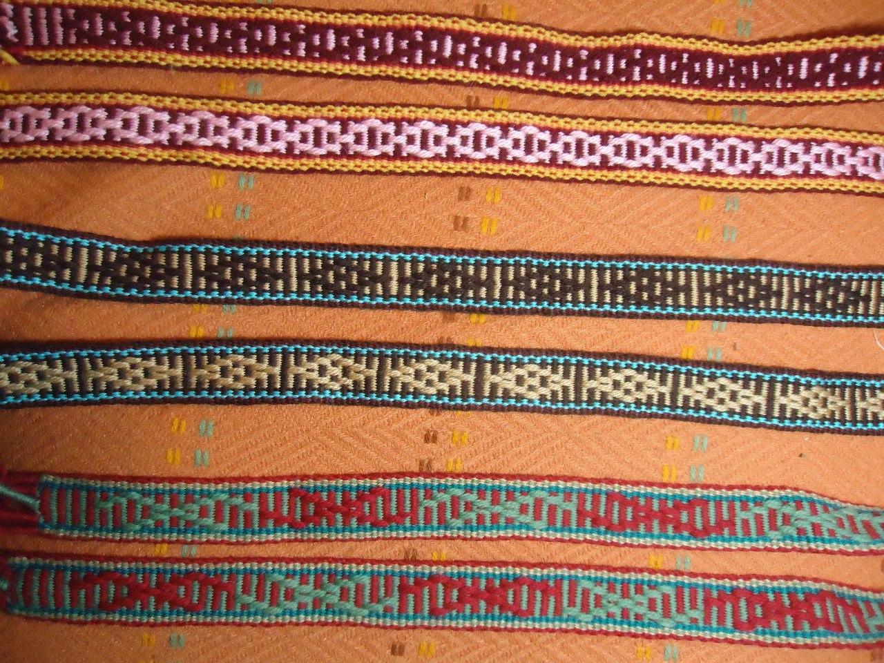 Схемы для ткачества поясов на берде