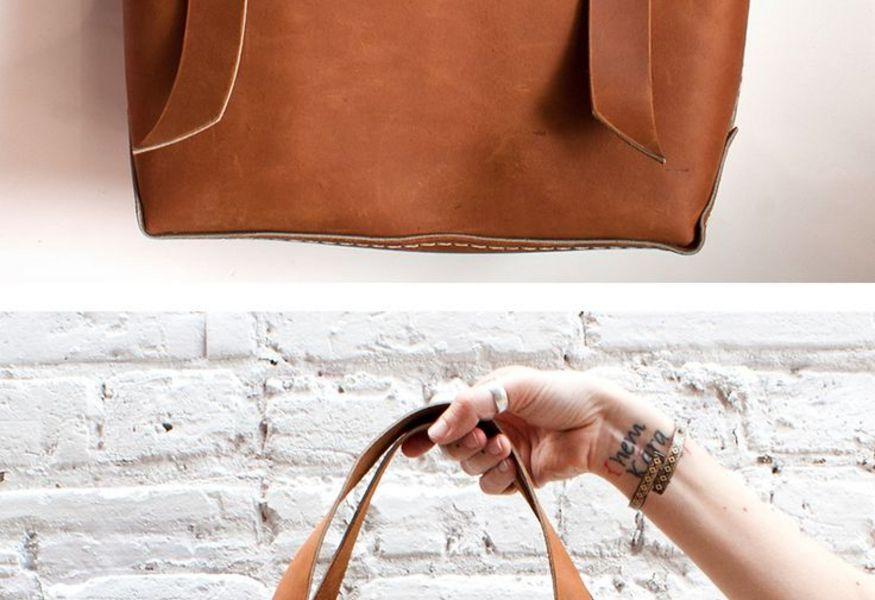 bb2b9857eca8 Мастер-класс «Шьем сами: сумка-пакет из натуральной кожи» 2015 в ...