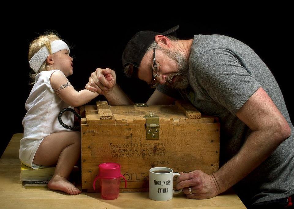 Смешные картинки про отца и дочь