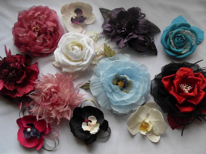 Как сделать цветы для украшения платья