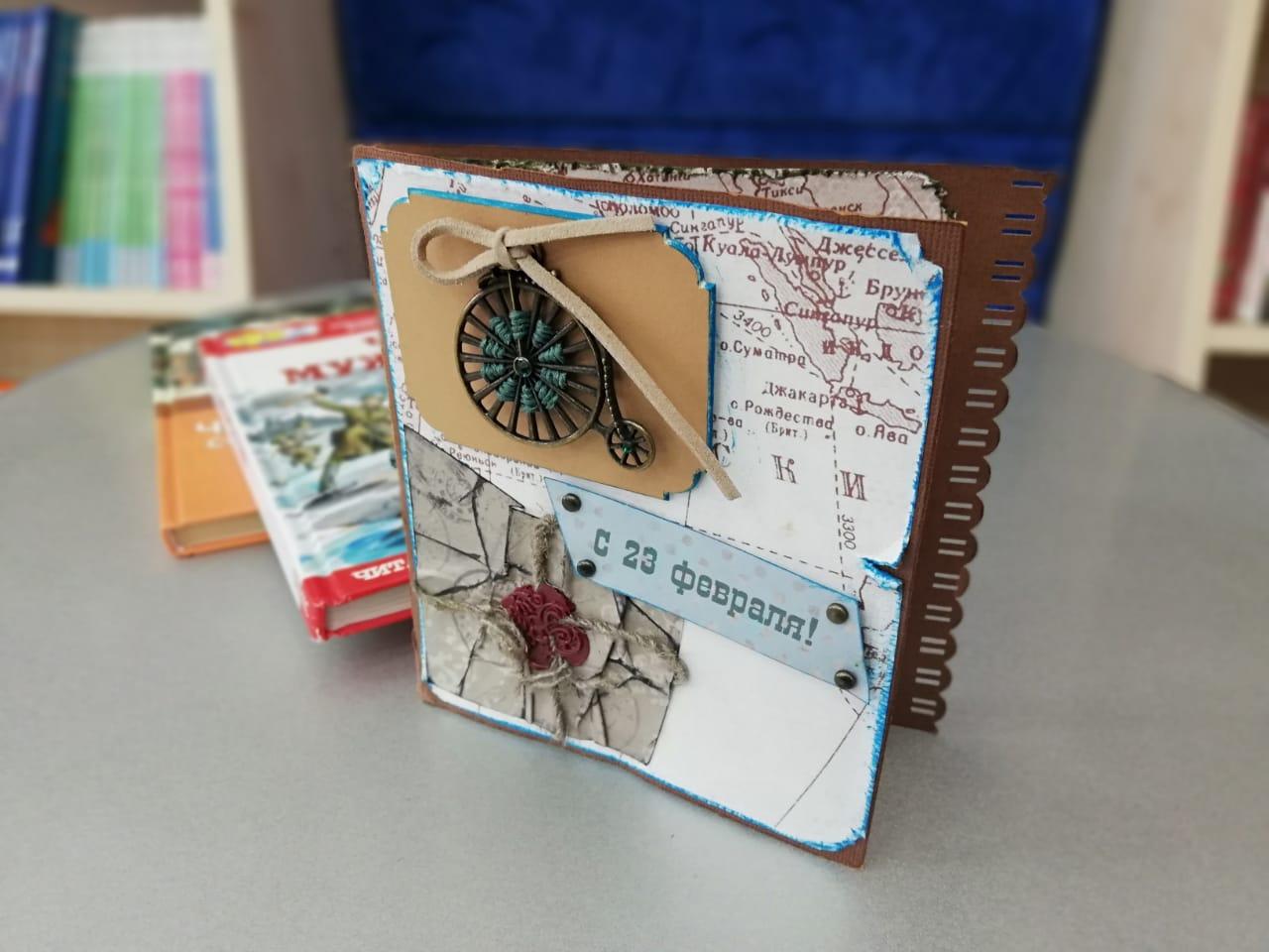 Старым, в библиотеке прошел мастер класс по изготовлению открыток