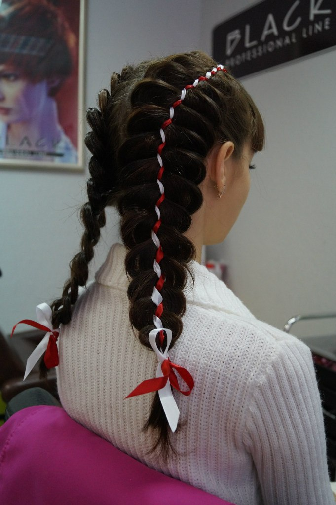 Модные косички плетение