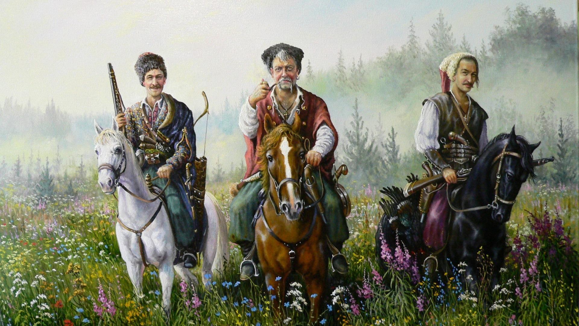 Запорожская казаки обои для рабочего стола