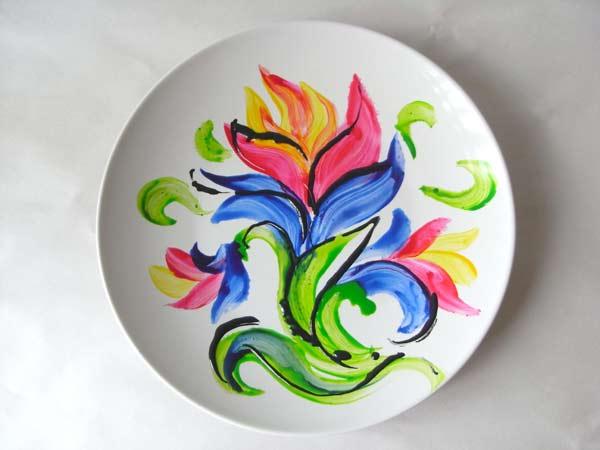 Как делать тарелки с росписью