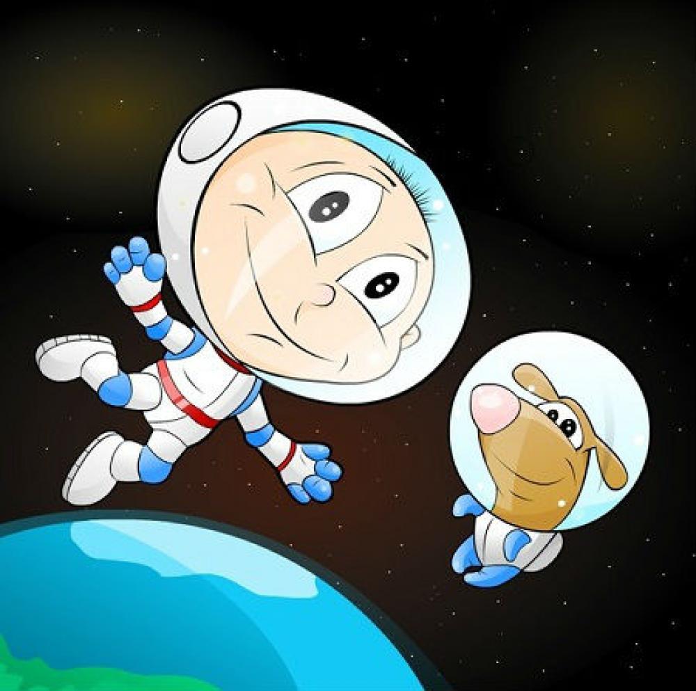 Анимации, картинки на день космонавтики для детей