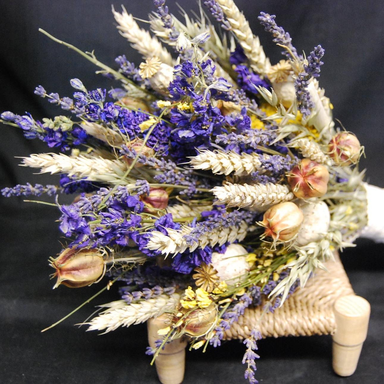 Букет из сухоцветов своими руками фото