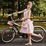 """Велопарад """"Леди на велосипеде"""" в Сокольниках"""