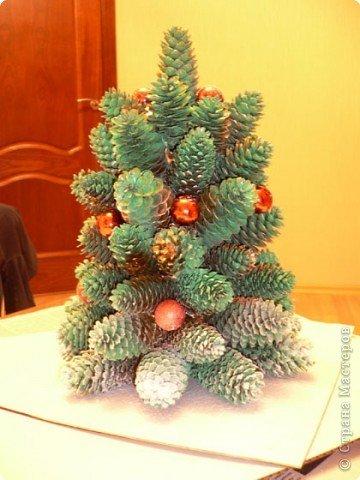 елочка из шишек для детского сада фото