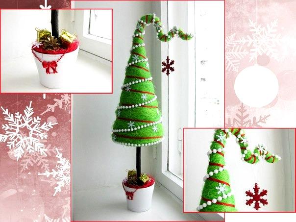 Из чего сделать елочку как топиарий - Необычные елки своими руками на новый год
