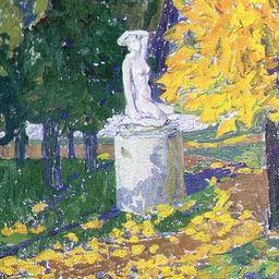 В Нескучном саду воссоздана скульптура «Осень»