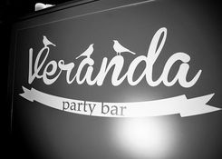 Veranda party bar