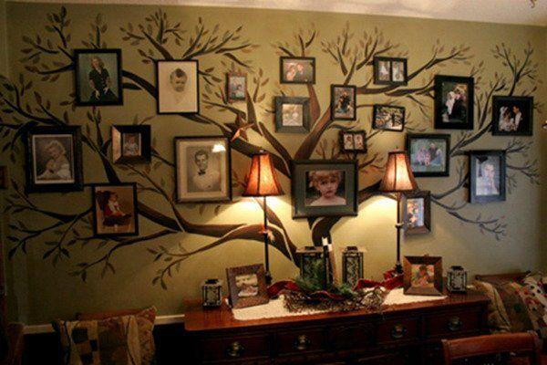 Оригинальное оформление стен своими руками фото