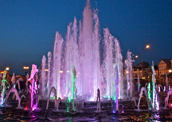 Открытие музыкального фонтана «Времена года»