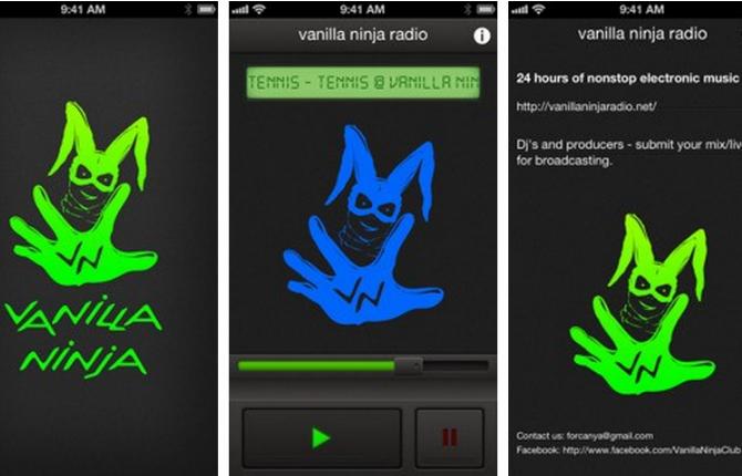Приложение «Vanilla Ninja Radio»