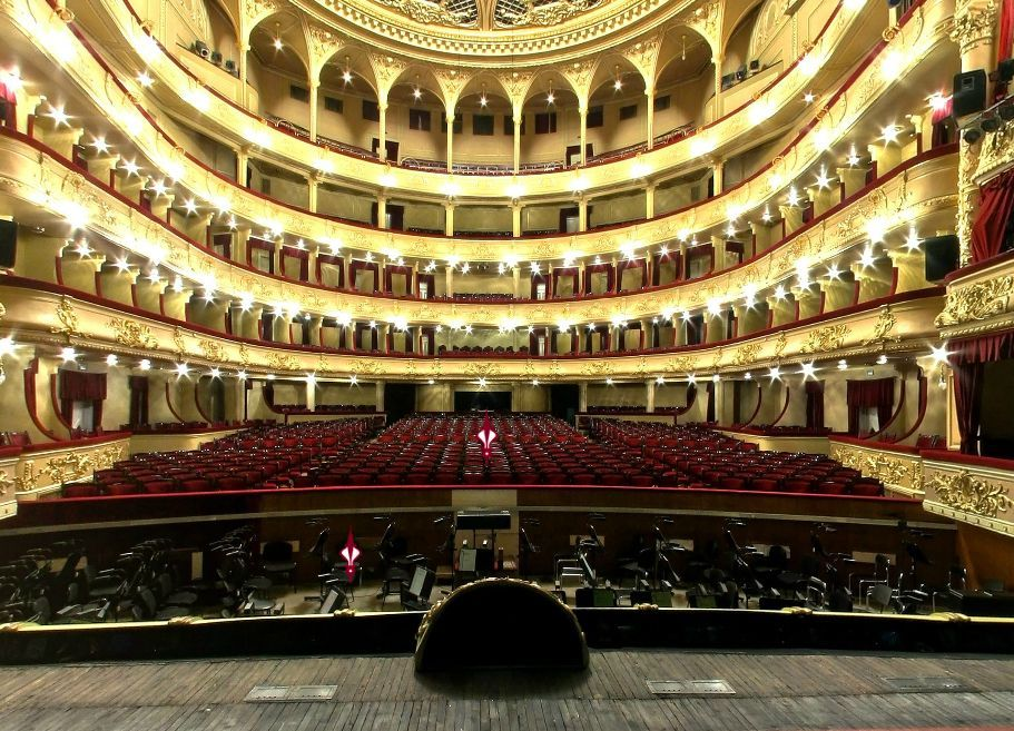 Схема зала оперного театра в Киеве.  Киевский оперный театр схема зала.