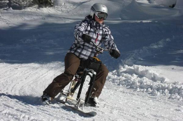 Катание на зимних велосипедах