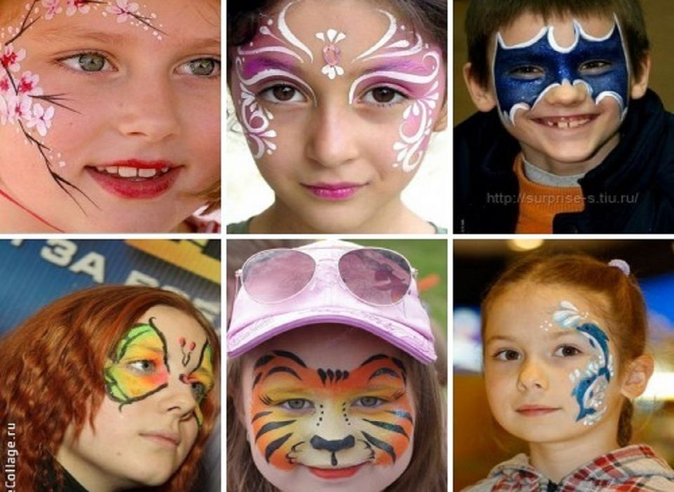 Аквагрим на лице мастер класс - Аквагрим для детей - картинки на лице, фото