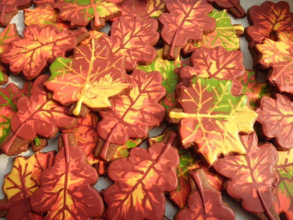 Печенье осенние листья рецепты с фото