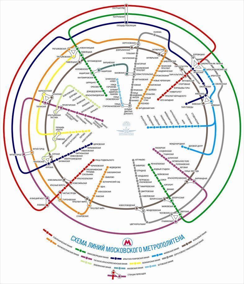карты московского метро