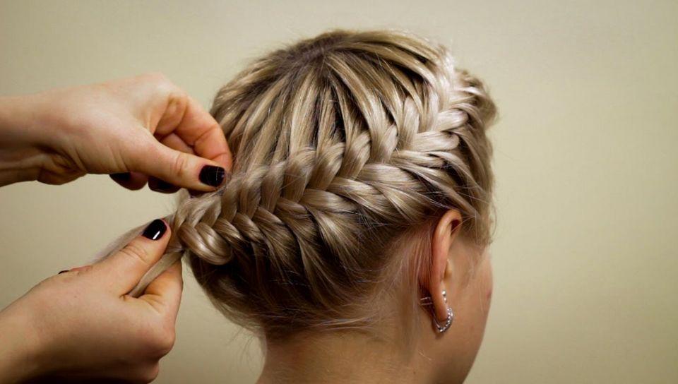Ютуб видео мастер класс по плетению кос инструкция #8