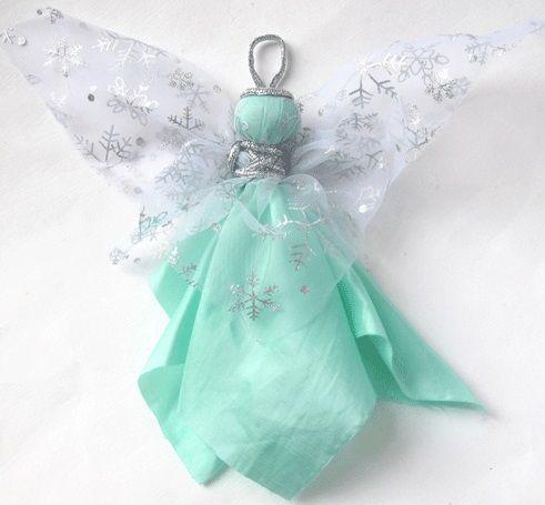 Ангел макушка на елку своими руками