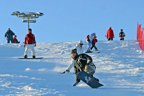 Встаем на сноуборд