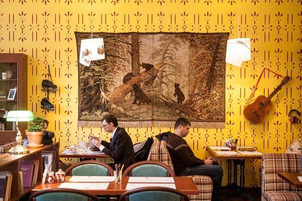 Кафе с советской атмосферой в Москве