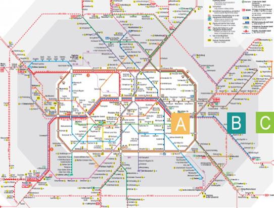 Транспортная схема Берлина