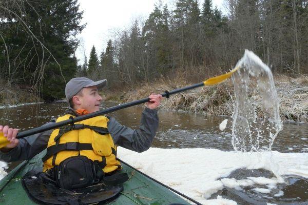 Сплав по реке Большая Сестра, ноябрь 2012 год