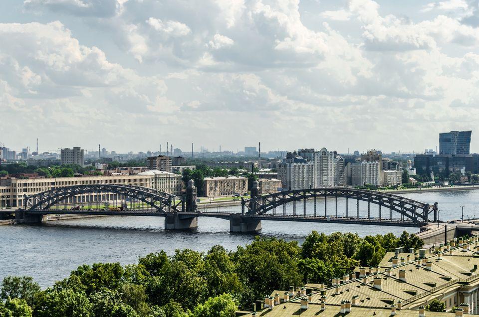 Мост Петра Великого (Большеохтинский мост)