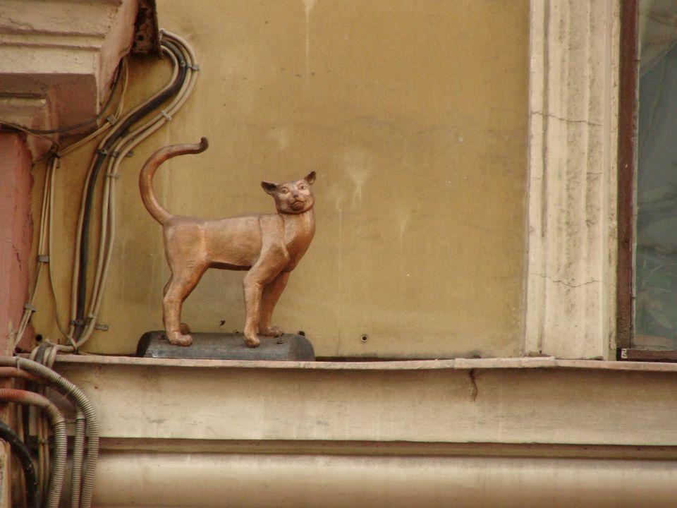 Памятник кошке Василисе