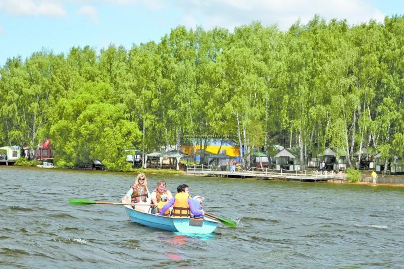 пляж на Клязьминском водохранилище